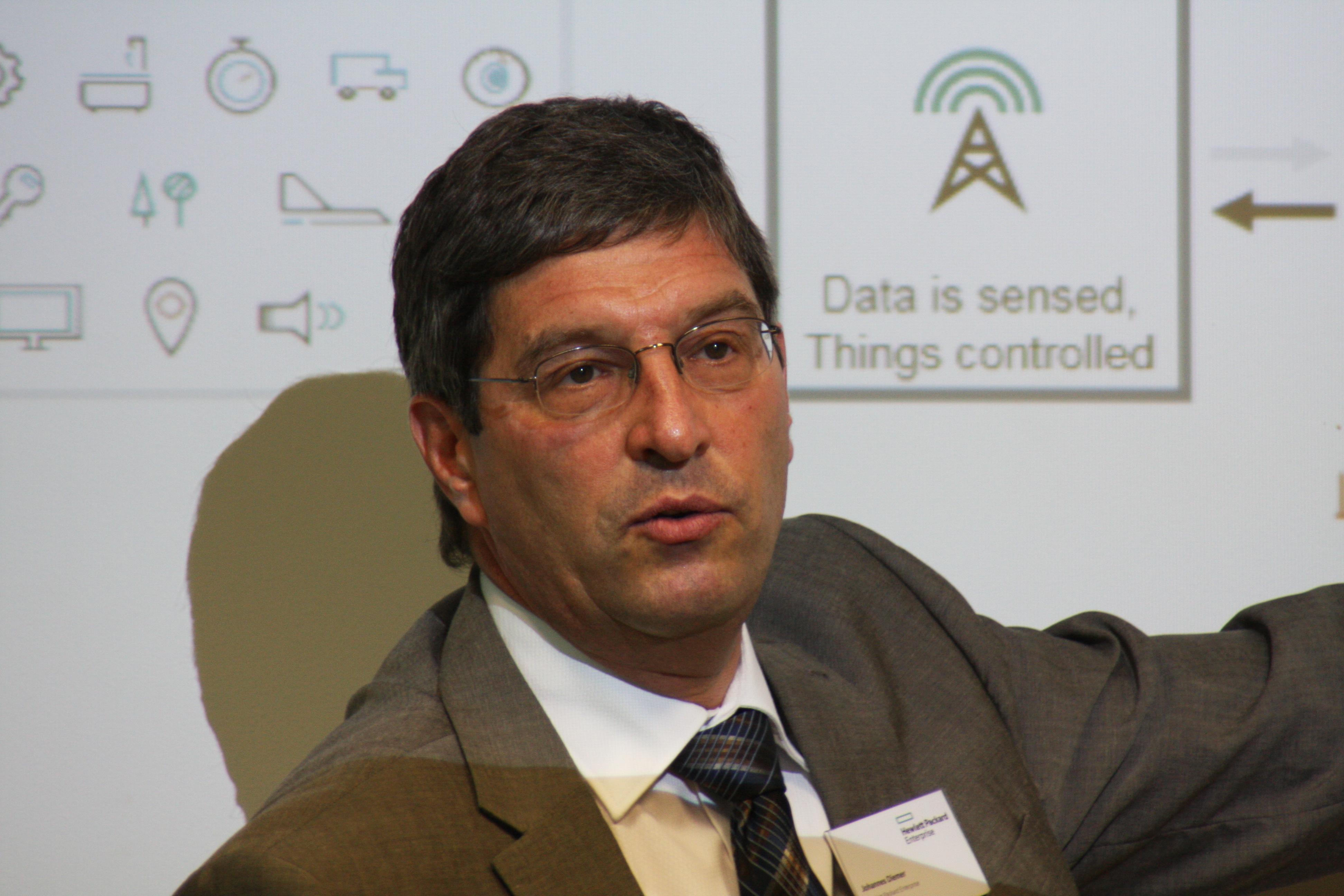 Johannes Diemer, Manager Industrie 4.0, HPE Deutschland. (Bild: Martin Schindler)