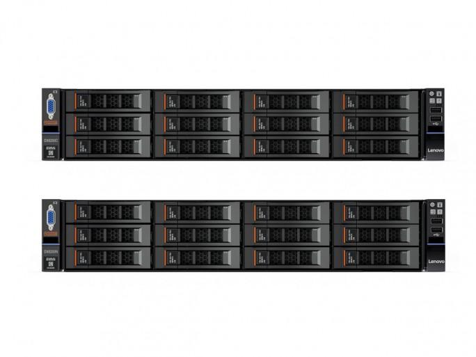 Die von Lenovo zusammen mit Nexenta (DX8200N) und Cloudian (DX8200C) entwickelten Produkte der Reihe Lenovo StorSelect (Bild: Lenovo).