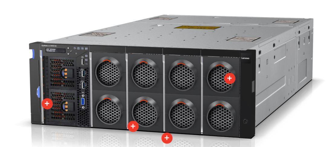Der aktualisierte X6 3850 von Lenovo richtet sich an kritische Anwendungen aus den Bereichen Big Data, Analytics oder In-Memory. (Bild: Lenovo)