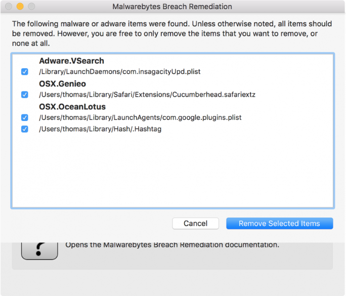 Malwarebytes Breach Remediation_Adware (Screenshot: Malwarebytes)