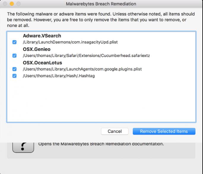 Malwarebytes Breach Remediation_Adware (Screenshot: Malwarebytes)