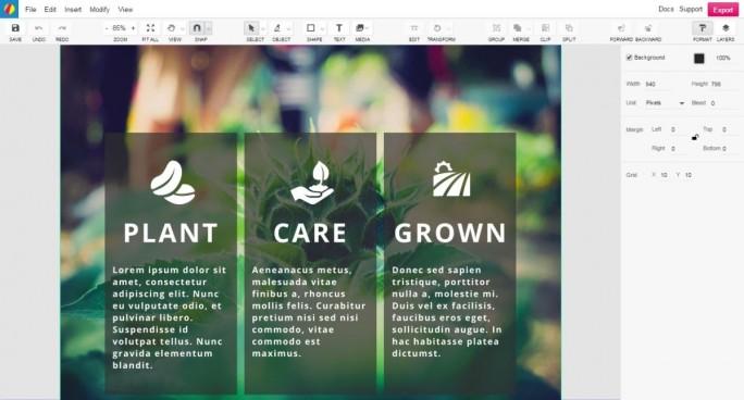 Gravit eignet sich auch  für die Teamarbeit, da mehrere Nutzer an einem Entwurf arbeiten können. (Screenshot: Christian Lanzerath)