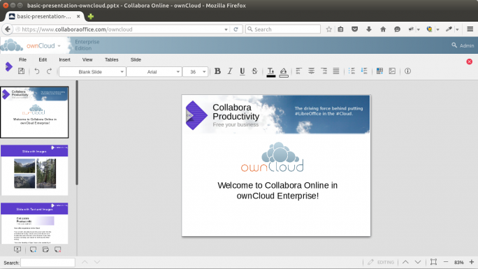 Collabora Online Impress in ownCloud (Bild: Collabora)