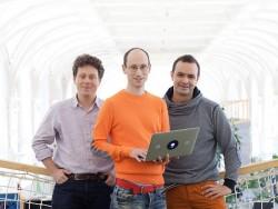 Die Prezi-Gründer Peter Arvai, Adam Somlai-Fischer und Péter Halácsy (Foto: Prezi)