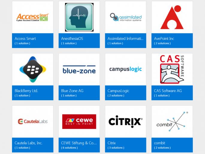 Der Katalog umfasst Kategorien wie Kommunikation, Bildung, Finzanzdienste, Medien oder Handel (Screenshot: ZDNet.de).