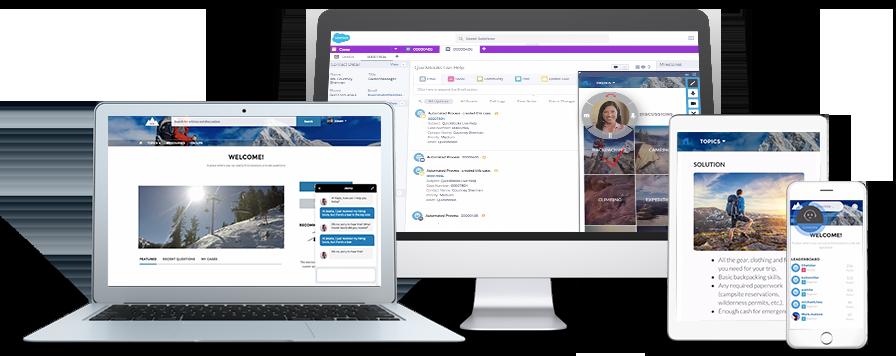 Salesforce integriert, auf Apps und in Web-Seiten Funktionen für den Kundenservice integrieren können. (Bild: Salesforce.com)
