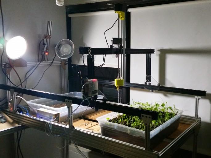 Der FarmBot eigne sich auch für den Einsatz im Labor. (Bild: Farmbot)