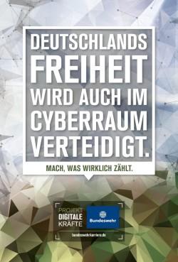 Die Bundeswehr wirbt schon länger um engagierte Kräfte für ihr neu zuwachsende Aufgaben, jetzt forciert sie auch die Spitzenforschung in dem Bereich. (Bild: Bundeswehr)