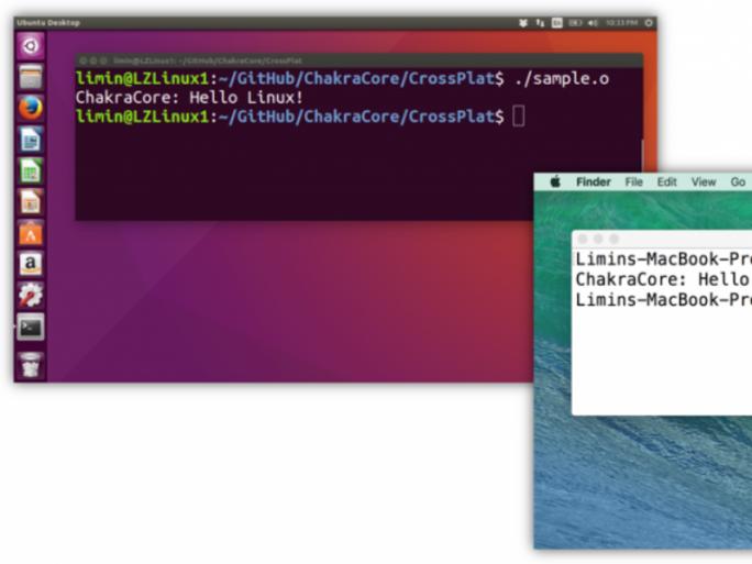 Microsofts JavaScript-Engine ChakraCore unter Linux und OS X. (Bild: Microsoft)
