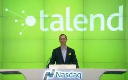 Talen-CEO Mike Tuchen beim IPO an der Nasdaq (Screenshot: silicon.de)