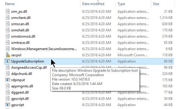 Windows Upgrade to Subscription Tool (Screenshot: Ed Bott/ZDNet.com)