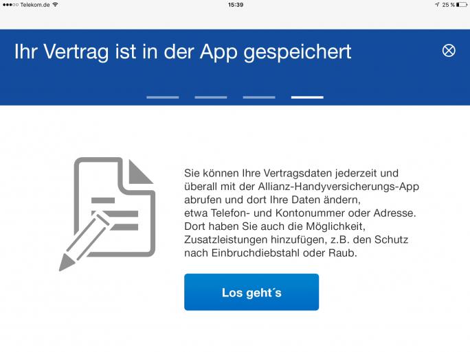 Click&care lautet das Motto bei der Handyversicherungs-App der Allianz (Bild: Allianz)