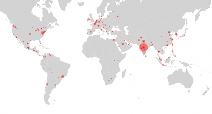 ERPScan lokalisiert Systeme , die von dem Leck im Internet Communications Manager betroffen sind. (Bild: ERPScan)