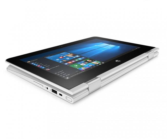 Das HP Stream 11x360 bietet einen Touchscreen und kann komplett umgeklappt und dann wie ein Tablet verwendet werden (Bild: HP Inc)