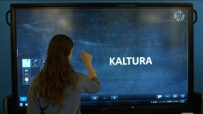 Für den Bildungsbereich hat Kaltura zusammen mit Sharp ein spezielles Angebot für digitale Whiteboards entwickelt (Bild: Kaltura).