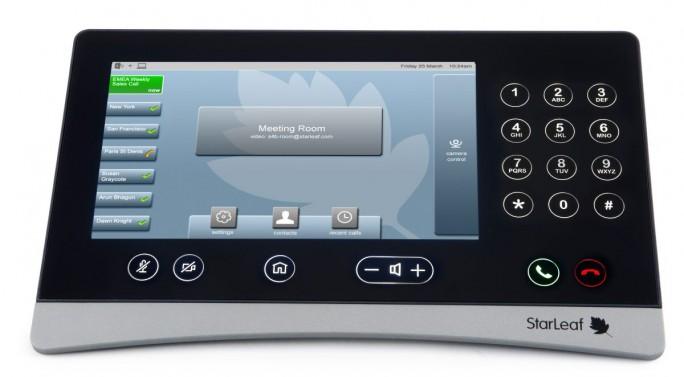 Der Controller mit Touchdisplay dient als zentrales Bedienelement des Videokonferenz-Lösungen von Starleaf. (Bild: Starleaf)