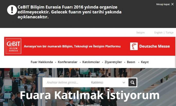 Bedenken von Ausstellern aufgrund der politischen Ereignisse in der Türkei veranlassen die Deutsche Messe zur Absage der CeBIT Bilişim Eurasia in Istanbul. (Bild: Hannover Fairs Turkey Fuarcılık A.Ş.)