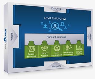 Die Proalpha-Lösung umfasst verschiedene Module, unter anderem für CRM. (Bild: Proalpha)