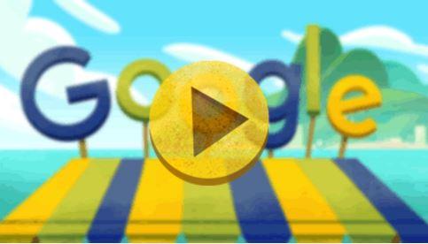 Google-Doodle am 5. August, dem Starttermin der Olympischen Spiele in Rio, kommt ohne Ringe und Zuckerhut aus und trotzdem ahnt der Betrachter, dass es wohl um die Spiele in Rio geht. (Screenshot: silicon.de)