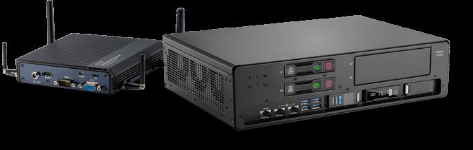 Zwei Vertreter aus dem HPE-Edgeline-Portfolio, das Intelligent Gateway und der Edgeline HPE Edgeline EL1000. (Bild: HPE)