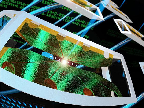 Blick auf den 5-Qbit-Quantenrechner des JQI. (Bild: E. Edwards/ JQI)