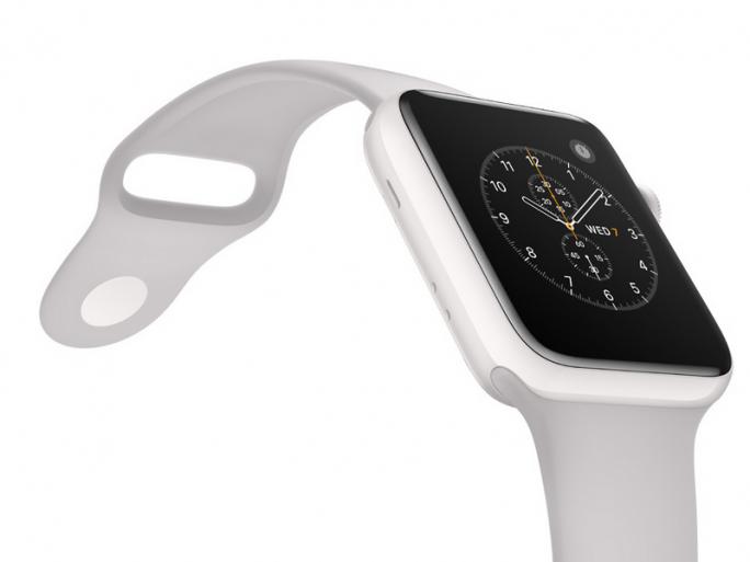 Apple Watch Edition mit Keramikgehäuse, das für Funkwellen besonders gut geeignet sein soll. (Bild: Apple)