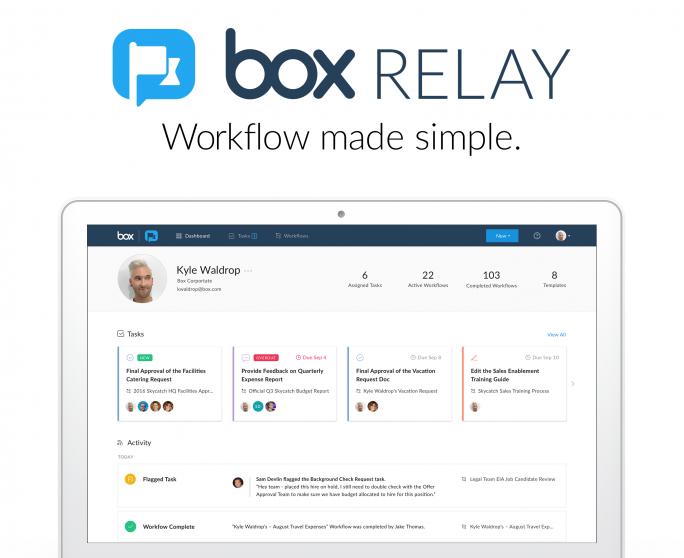 Workflows einfach und intuitiv mit Box Relay erstellen. (Bild: Box)