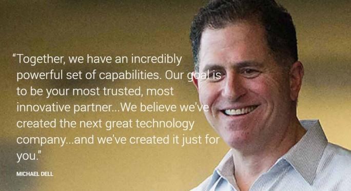 Michael Dells Vision für das neue Unternehmen Dell Technologies. (Bild: Dell Technologies)