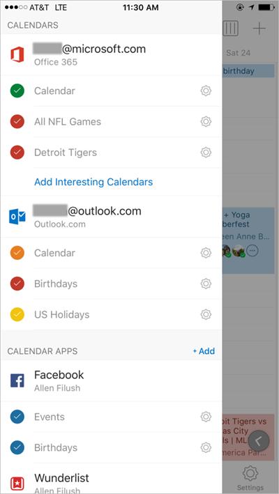 Interesting Calendars erlaubt es dem Anwender einem Terminkalender, etwa eines Fußballvereins zu folgen. (Bild: Microsoft)
