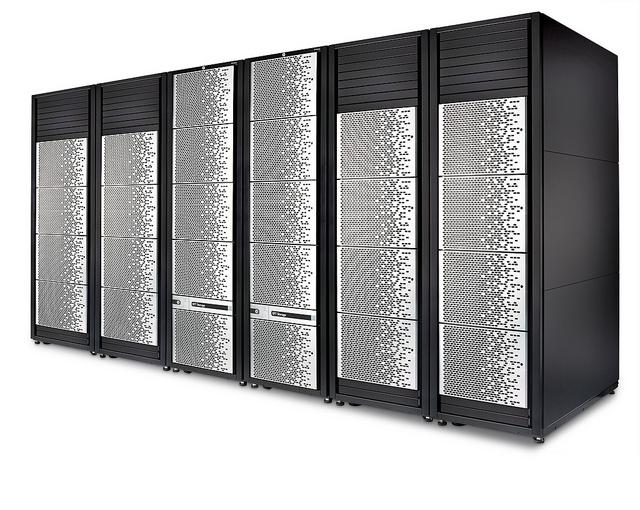 HPE XP7 in der Maximalkonfiguration mit 6 Frames. (Bild: HPE)