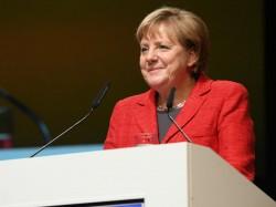 Bundeskanzlerin Angela Merkel auf den Medientagen München 2016 (Bild: Medientage München)