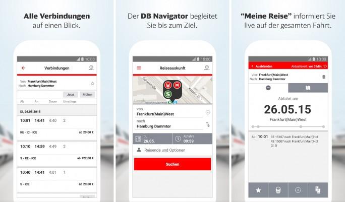 DB Navigator (Screenshot: Mehmet Toprak)