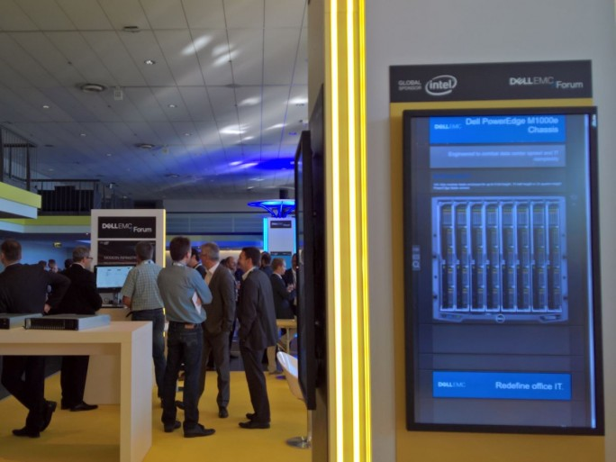 Rund 1000 Besucher kamen in die Mainzer Rheingoldhalle zum ersten gemeinsamen Dell/EMC-Forum in Deutschland.  (Bild: Ariane Rüdiger)