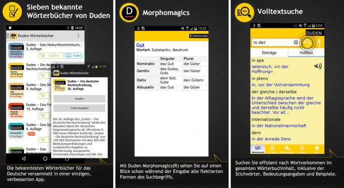 Duden Wörterbücher (Screenshot: Mehmet Toprak)