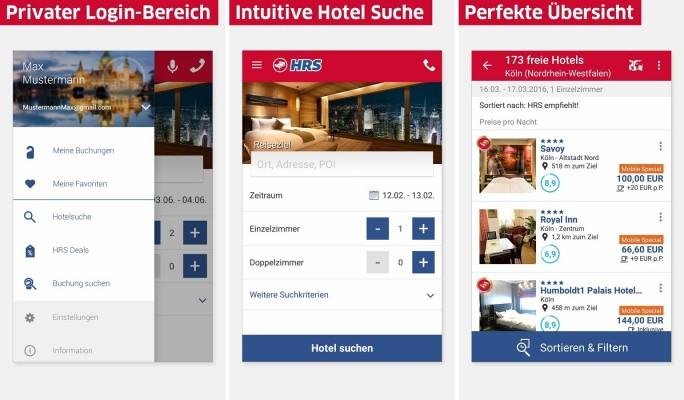 HRS Hotelsuche (Screenshot: Mehmet Toprak)