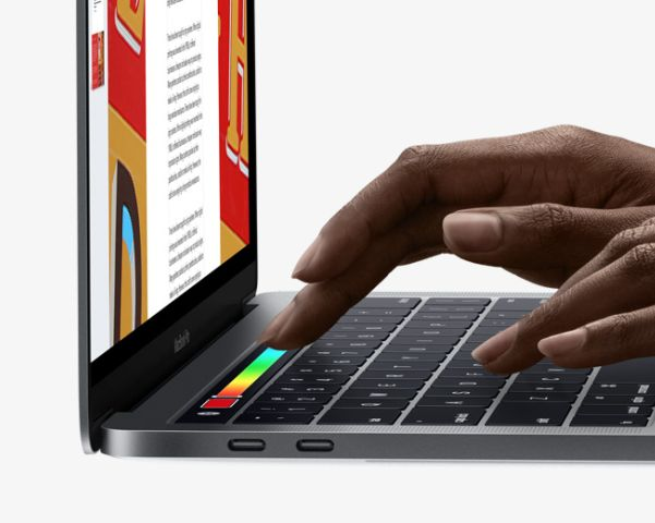 Die Touch Bar beim Mac Book Pro (Bild: Apple)