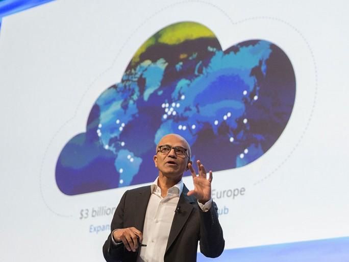 Microsoft-CEO Satya Nadella hat zum Auftakt seiner Europareise in Dublin gestern eine Zwischenbilanz der diesjährigen Cloud-Aktivitäten von Microsoft in Europa gezogen. (Bild: Microsoft)