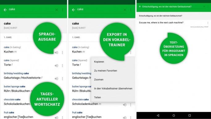 Pons Online-Übersetzer (Screenshot: Mehmet Toprak)