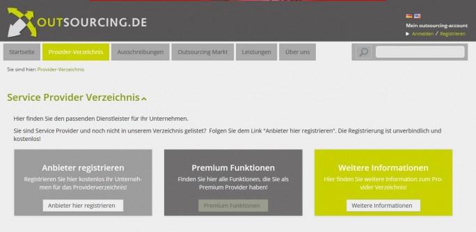 outsourcing.de ist ein Anbieterverzeichnis für Auftraggeber. Daneben soll ein Expertenforum Diskussionen ermöglichen. (Bild: OsDe GmbH)