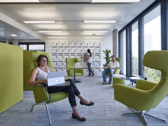 """Zeit zum Nachdenken bieten die """"Think Workspaces"""" in Microsofts neuer Deutschlandzentrale (Bild: Microsoft)"""