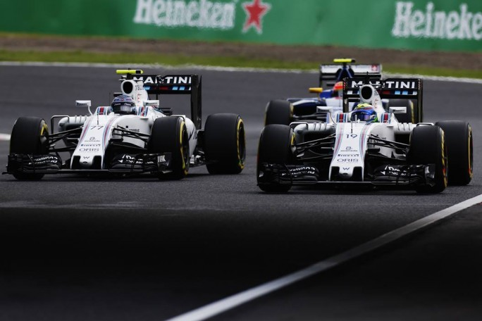 Valtteri Bottas und Felipe Masse in Japan auf Williams Martini. (Bild: WilliamsF1.com)