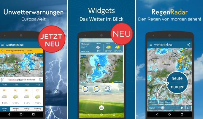 Wetter online (Screenshot: Mehmet Toprak)