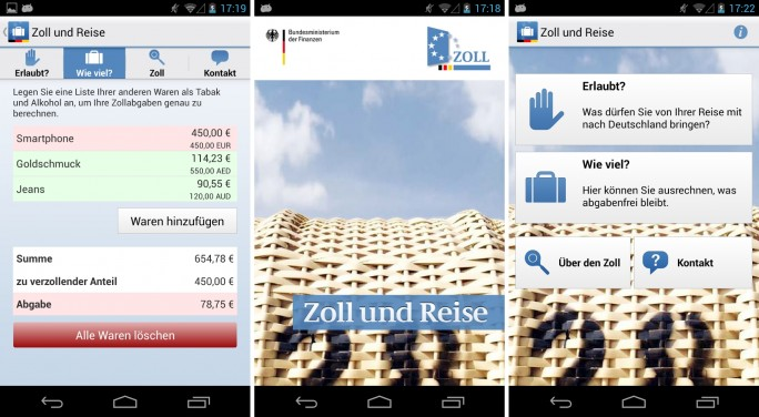 Zoll und  Reise (Screenshot: Mehmet Toprak)