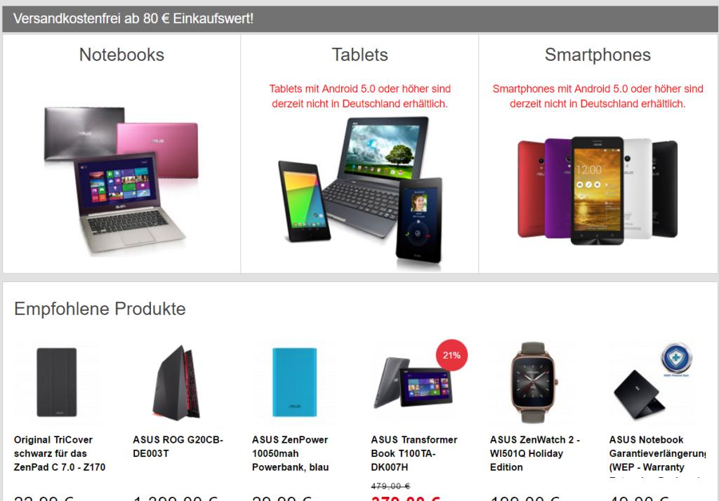 Asus Zen Verkaufsstopp: Gibt es wieder Probleme mit Microsoft?