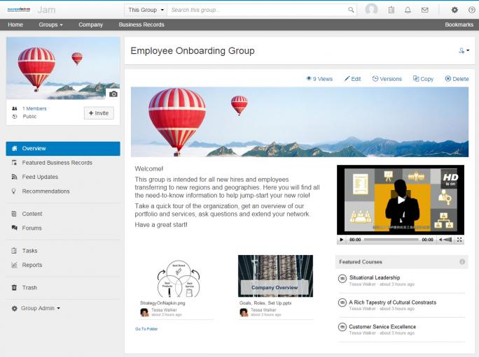 Onboarding eines neuen Mitarbeiters über die Collaboration-Lösung SAP Jam. (Bild: SAP SE)
