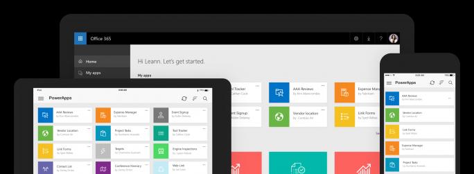 Anwender sollen Business-Prozesse über die so genannten Powerapps schnell und einfach selbst erstellen können. (Bild: Microsoft)