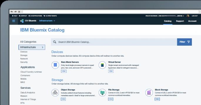 Der Produkt-Katalog wird zusammenwachsen. Künftig wir es auch nur noch eine Rechnung für Anwender beider Services geben. (Bild: IBM)