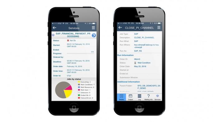 Auch mobile Statusabfragen sind über Control-M möglich. (Bild: BMC)