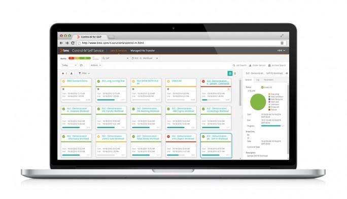 Control-M von BMC liefert eine zentralisierte Übersicht über sämtliche SAP-Workloads. (Bild: BMC)