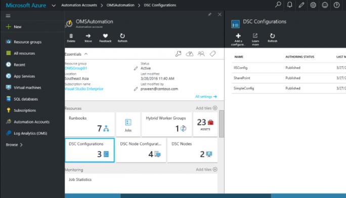 PowerShell kann auch mit der Microsoft Operations Management Suite genutzt werden. (Bild: Microsoft)